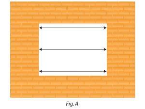 Ancho del hueco para medir tamaño ventanas de pvc. Montaje en Granada de ventanas de PVC