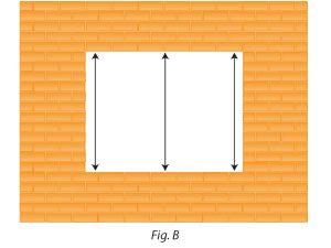 Ancho del hueco para medir tamaño ventanas de pvc